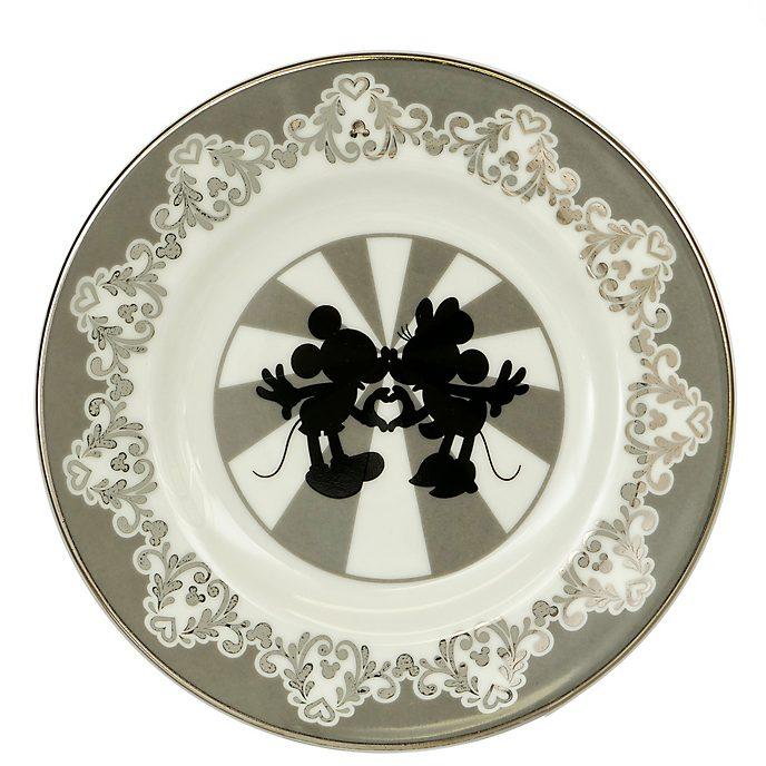 English Ladies Co. Assiette Mickey et Minnie vintage en porcelaine fine