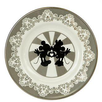 English Ladies Co. Bone China Vintage Mickey and Minnie Plate