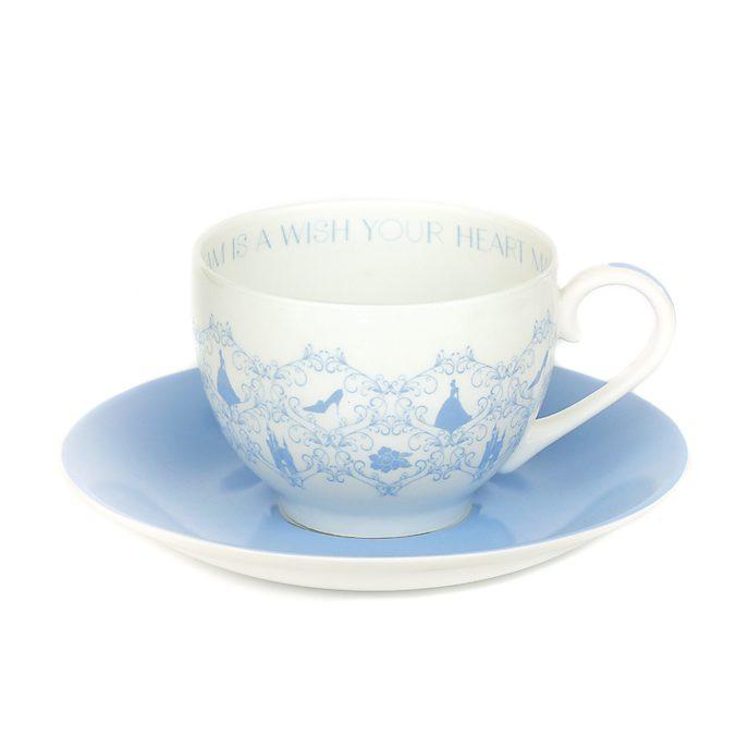 Platito y taza de té porcelana ceniza hueso Cenicienta, English Ladies Co.