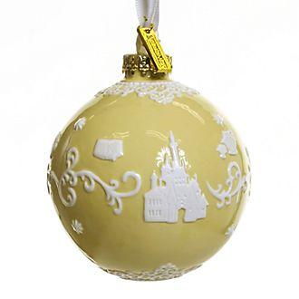 English Ladies Co. -Die Schöne und das Biest - Dekorationsstück aus hochwertigstem gelben Porzellan zum Aufhängen