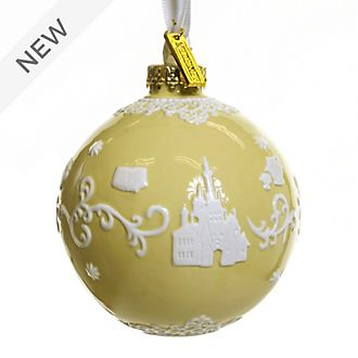 English Ladies Co. Beauty and the Beast Yellow Fine China Hanging Ornament