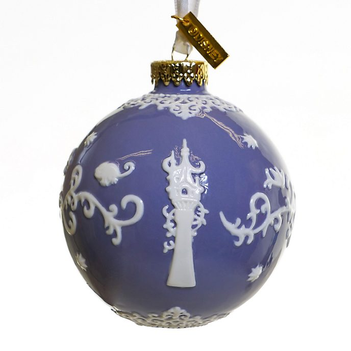 English Ladies Co. Tangled Purple Fine China Hanging Ornament