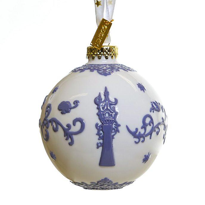 Decorazione da appendere in porcellana Rapunzel - L'Intreccio della Torre bianco English Ladies Co.