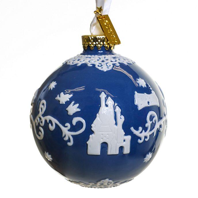 English Ladies Co. Boule Blanche Neige bleue en porcelaine fine