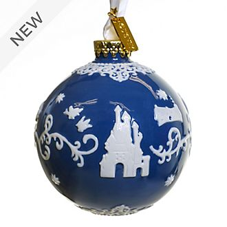 English Ladies Co. Snow White Blue Fine China Hanging Ornament