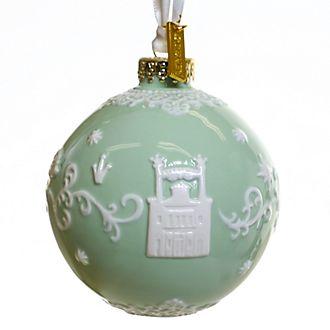 English Ladies Co. -Küss den Frosch - Dekorationsstück aus hochwertigstem grünen Porzellan zum Aufhängen