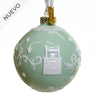 English Ladies Co. adorno colgante porcelana fina verde Tiana y el Sapo