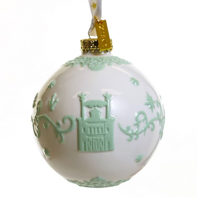 English Ladies Co. The Princess and the Frog White Fine China Hanging Ornament