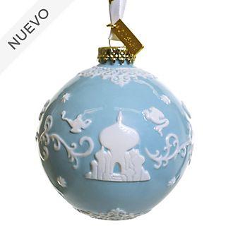 English Ladies Co. adorno colgante porcelana fina azul Aladdín