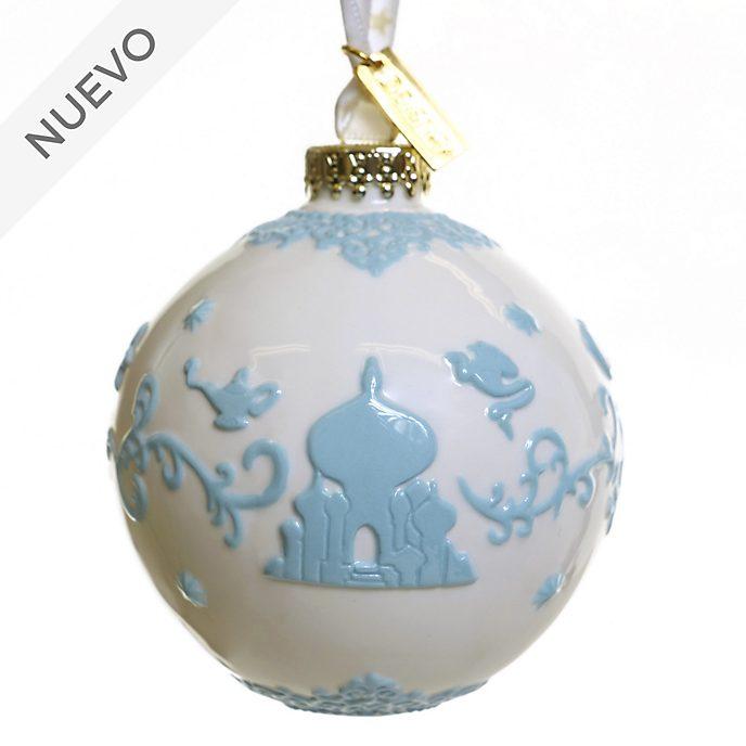 English Ladies Co. adorno colgante porcelana fina blanco Aladdín