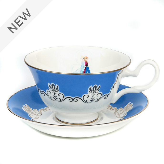 English Ladies Co. Frozen Fine Bone China Teacup and Saucer