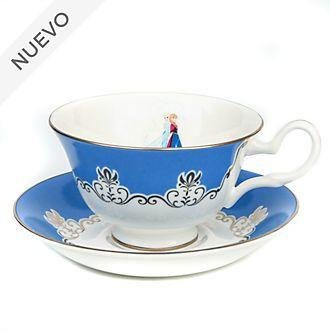 English Ladies Co. taza té y platillo porcelana fina ceniza hueso Frozen