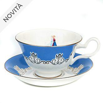 Tazza da tè e piattino in porcellana fine Frozen - Il Regno di Ghiaccio English Ladies Co.