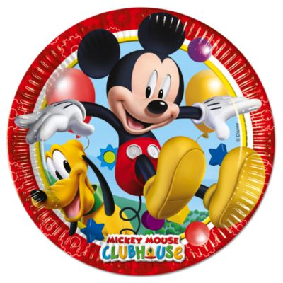 Ensemble de 8 assiettes de fête Mickey Mouse
