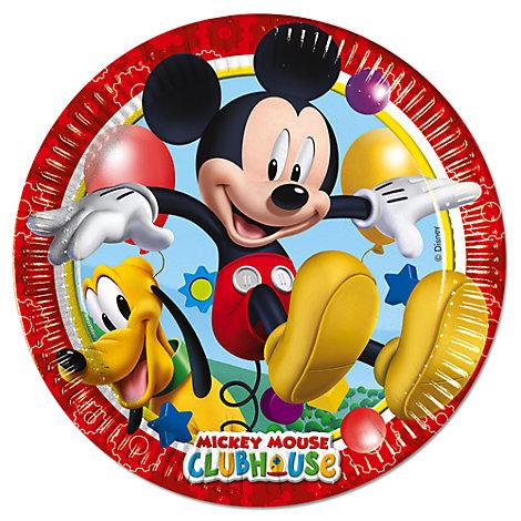 Mickey Mouse paptallerkener, pakke med 8 stk.