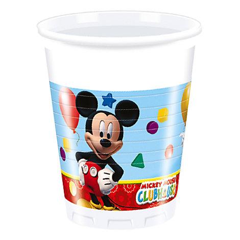 Mickey Mouse plastikkrus, pakke med 8 stk.
