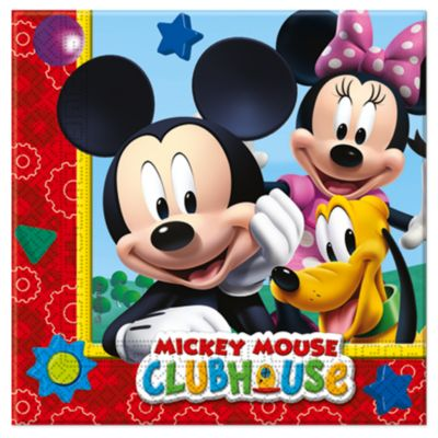 Ensemble de 20 serviettes de fête Mickey Mouse