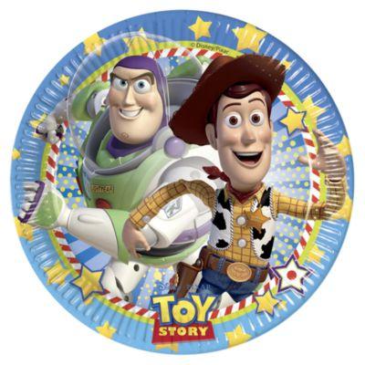 Toy Story festtallerkener, pakke med 8 stk.