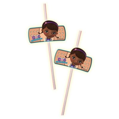 Doc McStuffins Bendy Straws, Set of 6