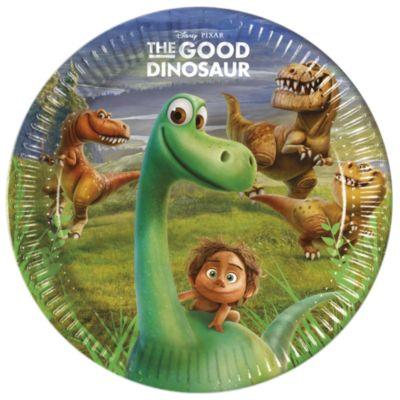 Den gode dinosaur festtallerkener, pakke med 8 stk.
