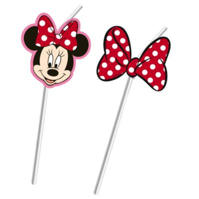 Minnie Mouse Bendy Straws, Set of 6