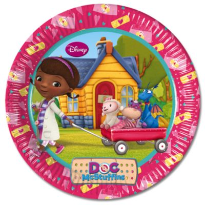 Doc McStuffins 23cm Party Plates, Set of 8
