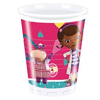 Bicchieri di plastica Dottoressa Peluche, confezione da 8
