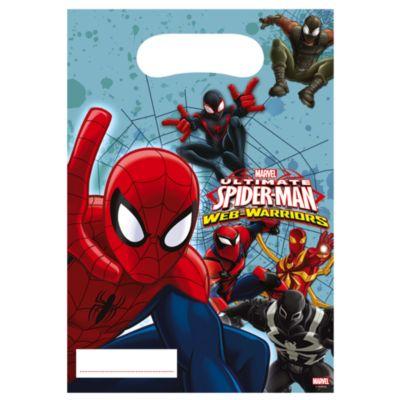 Spider-Man godteposer, pakke med 6 stk.