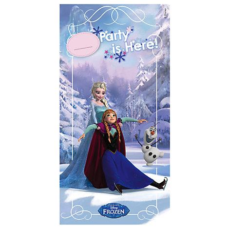 Cartel puerta de Frozen