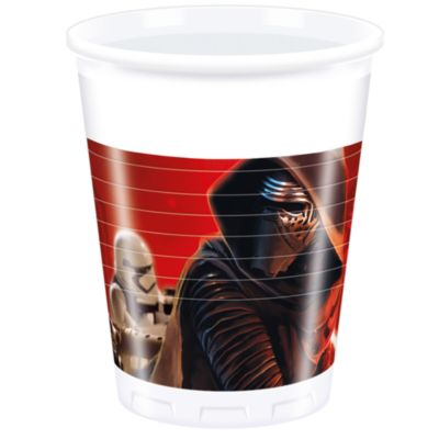 Set 8 vasos fiesta, Star Wars VII: El despertar de la fuerza