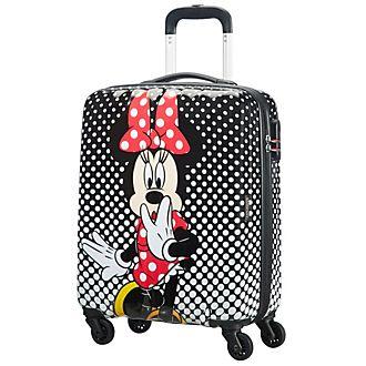 1435a43ec0c0d American Tourister maleta pequeña Minnie con ruedas y lunares estampados