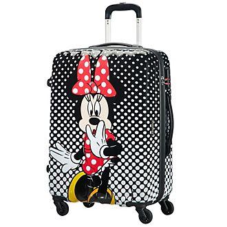 American Tourister maleta mediana Minnie con ruedas y lunares estampados