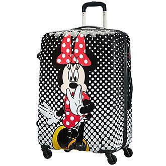 American Tourister maleta grande Minnie con ruedas y lunares estampados