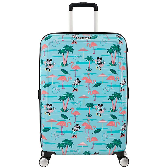 American Tourister Valise à roulettes Minnie Flamants roses, moyen format