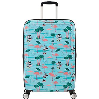 American Tourister Minnie Mouse Flamingo Medium Rolling Luggage
