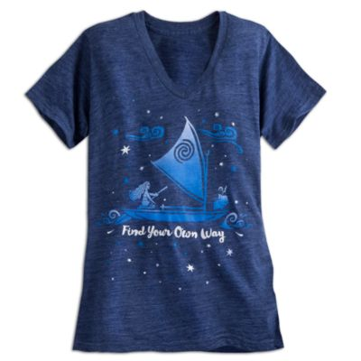 Camiseta estampada personajes Vaiana para adulto