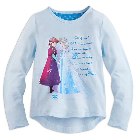 Camiseta infantil personajes Elsa y Anna, Frozen