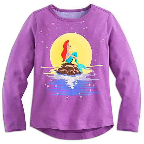 Camiseta infantil manga larga La Sirenita
