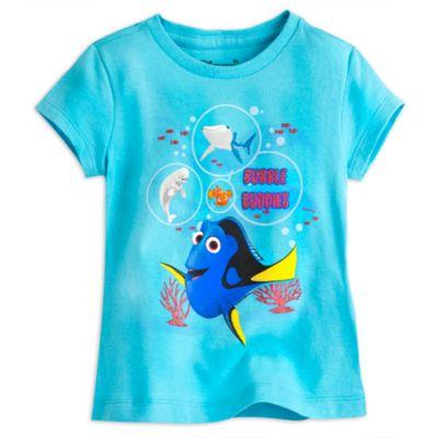 Camiseta infantil personajes Buscando a Dory