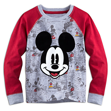 Camiseta infantil manga larga Mickey Mouse