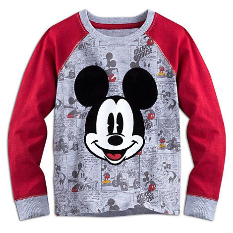 Haut à manches longues Mickey Mouse pour enfants