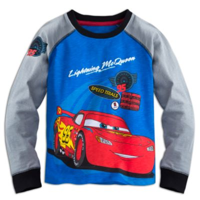 Disney Pixar Cars - Lightning McQueen Shirt langärmelig für Kinder