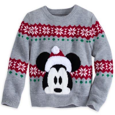 Jersey punto navideño Mickey Mouse para niño