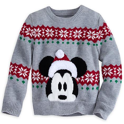 Assurez-vous que vos enfants ont le bon look pour les fêtes de Noël avec cet adorable pull Mickey Mouse ! Il comporte une très jolie bordure en peluche en relief sur le chapeau de Mickey et également un motif de fêtes !