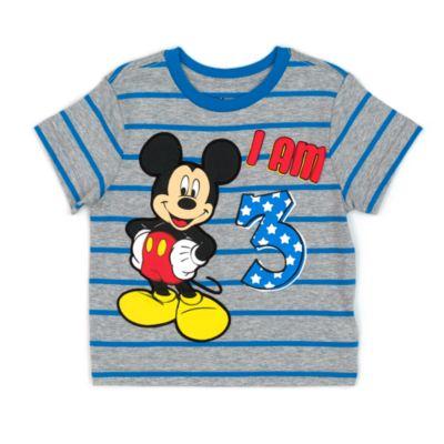 Camiseta infantil edad Mickey Mouse