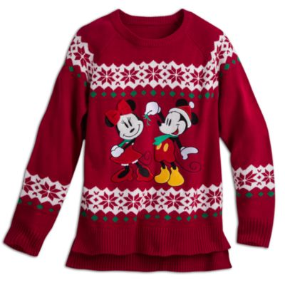 Mickey And Minnie Ladies Christmas Jumper