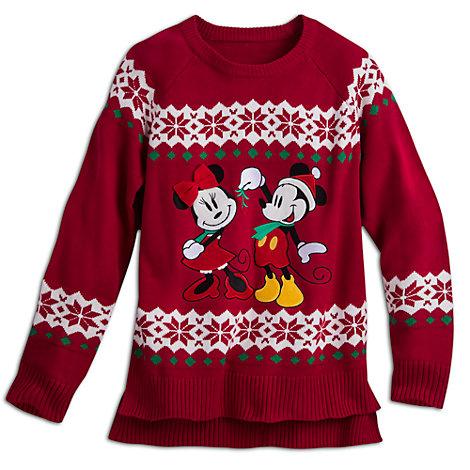 Pull de Noël Mickey et Minnie pour femmes
