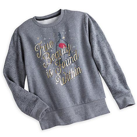 Skønheden og Udyret grå sweatshirt til damer