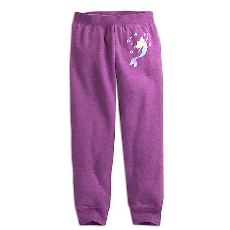 Farverige Den lille havfrue træningsbukser i fleece