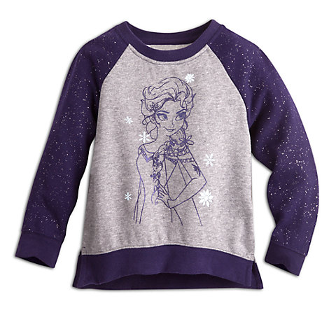 Elsa fleecetrøje med glimmer, Frost